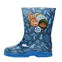 Boys Peter Rabbit Wellington Boot Blue Rain Wellies Mid Calf Snow Kids Size 5-10 (9 UK Child, Blue)