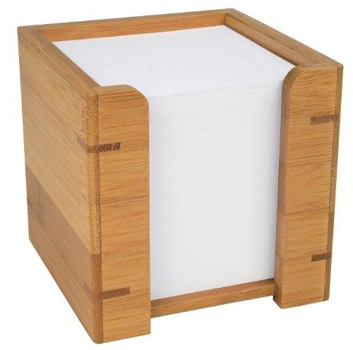 Wedo 61707 Zettelbox Bambus, braun