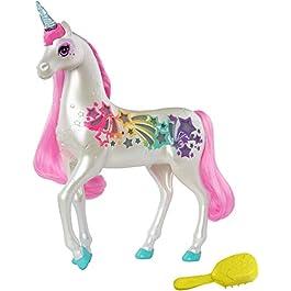 Barbie Unicorno Pettina e Brilla, Accessorio per Bambole, Giocattolo per Bambini 3 + Anni, GFH60