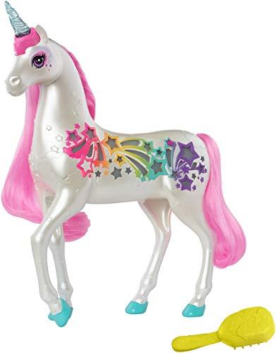 Barbie GFH60 - Dreamtopia Regenbogen Einhorn mit magischer Bürste für Musik und Lichter, ab 3...