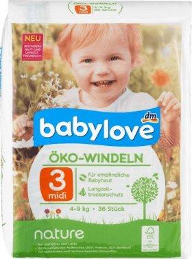 babylove Öko-Windeln nature Größe 3, Midi, 4-9kg, 36 St