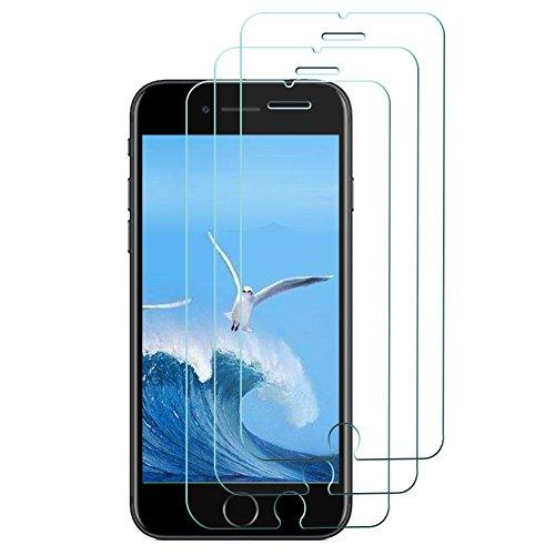 SAKYO [3 Pièces] Verre Trempé pour iPhone 7 / iPhone 8, Protecteur d'Écran en Verre Trempé, Film Protection Dureté de 9H, Transparent et Clair, Installation Facile Sans Bulles pour iPhone 7 / 8