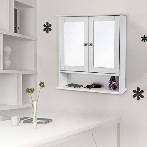 Spiegelschrank mit Ablage aus Holz 56cm - 8