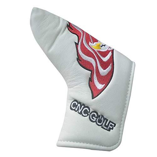 YuFLangel Golf Holz Schlägerkopfhüllen PU Golf Putter Kopfbedeckungen Headcover mit magnetischen für Scotty Cameron Taylormade Golf Club Universelle