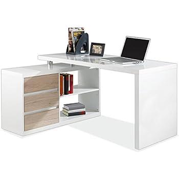 Eckschreibtisch weiß hochglanz  Eckschreibtisch Schreibtisch Computertisch Arbeitstisch MIKOSCH ...