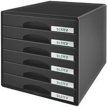 Leitz 52120095 - Cajonera para oficina (6 cajones), color negro