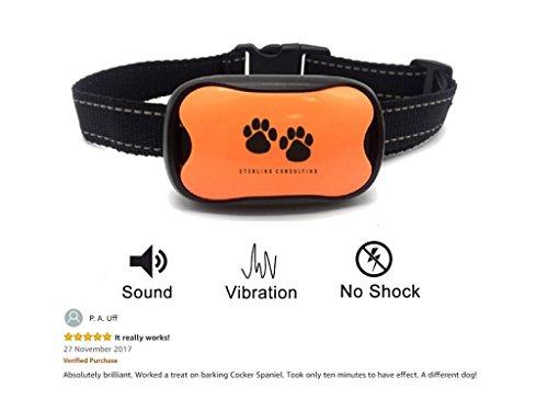 Hundehalsband gegen Bellen | 7 Progressive Ton- u. Vibrationspegel | Kein Schock | Stoppt Hundebellen Schnell & Scherzfrei | Passend für Kleine, Mittlere & Große Hunde | Inkl. Batterie