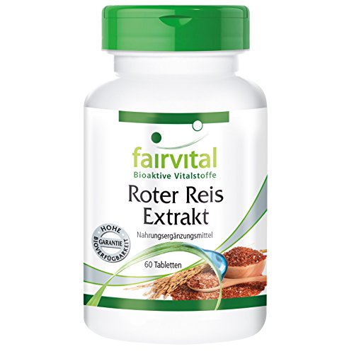 Roter Reis Extrakt, 3% Monacolin K, vegan, natürlich, Reinsubstanz, 60 Tabletten, 2-Monatspackung