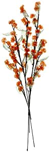 Fourwalls Crystal Flower (Set of 5, Orange, CF 71001/195)