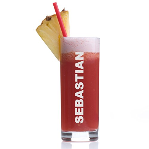 Stölzle Lausitz Longdrinkglas mit Gravur - Barglas personalisiert mit Namen - Geschenk-Idee zum Geburtstag - Cocktail-Glas 405 ml