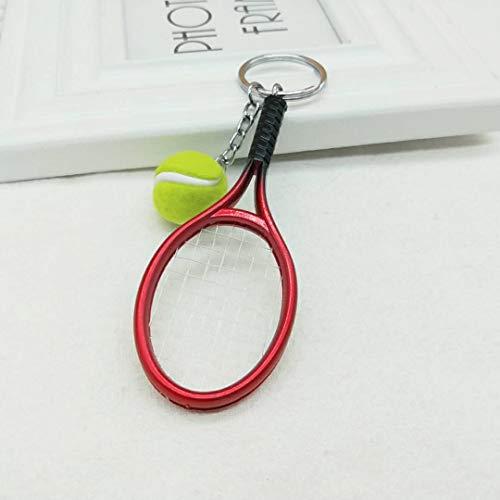 YYHMHMH Kreatives Geschenk Tennisschläger Keychain Mode Tasche Anhänger Koreanischen Ball Sport Zubehör Rot Tennisschläger Keychain - Koreanischen Tasche