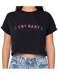 2b3e6ca3d301f6 MINGA LONDON Cry Baby Crop Top Fun Women s Tumblr Kawaii