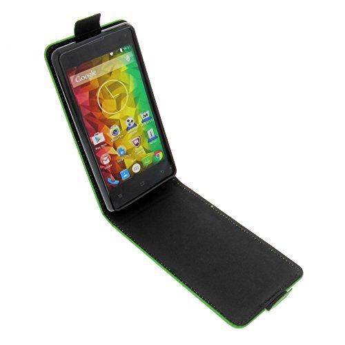foto-kontor Tasche für MEDION Life E4503 Smartphone Flipstyle Schutz Hülle grün