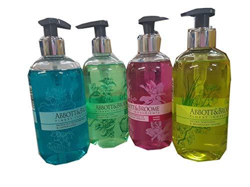 Abbott&Broome Handwash Set 4 x 300 ml Spender 4 Sorten sortiert Apfel/Magnolie/Gletscherwasser/Tigergrass -