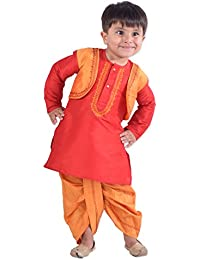 BownBee Baby Boys' Silk Dhoti For Kids