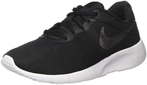 Nike Jungen Tanjun (gs) Gymnastikschuhe, Schwarz (Black/MTLC Pewter/White 014), 35.5 EU (Herren Indoor Nike Schuhe)