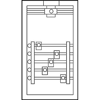 ABN Braun Connector Housing GAG136N kompl. 5x250A Connection Unit 4015153368316