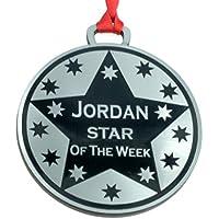 Star personalizado de medalla de la semana 7cm de diámetro, acabado metálico