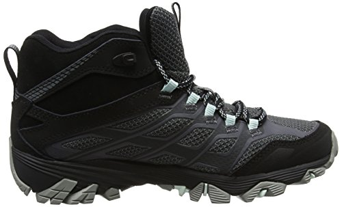 Merrell Moab Fst Mid Gore-Tex, Chaussures de Randonnée Hautes Femme Noir (Granite)