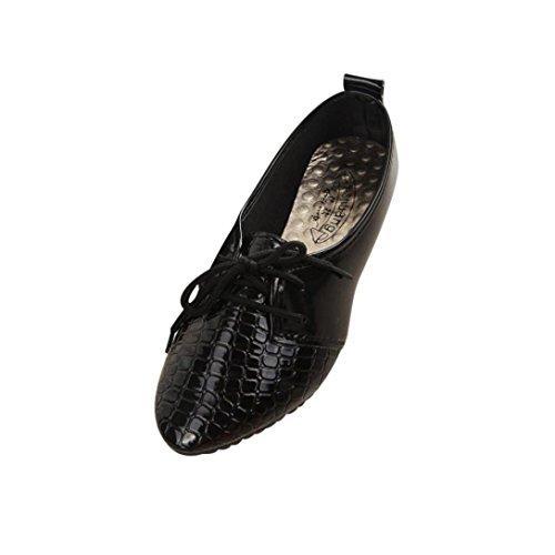 Transer® Damen Flach Mokassins Gemütlich Kunstleder+Kunststoff Schwarz Weiß Einzelschuhe (Bitte achten Sie auf die Größentabelle. Bitte eine Nummer größer bestellen. Vielen Dank!) Schwarz