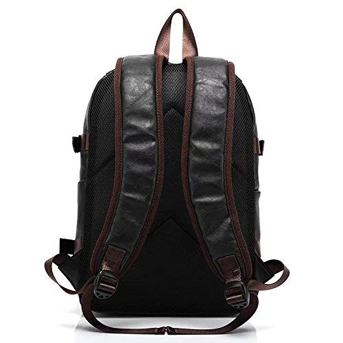 Fur Jaden Black Unisex Waterproof Stylish Backpack Bag of Artificial Leather for Faculty, Office and School Image 2