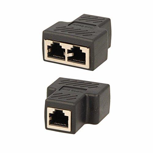Netzwerkkabel Splitter Verteiler RJ45 8P8C LAN Kabel Doppler Cat5 Cat 6 Stecker (8p8c-splitter)