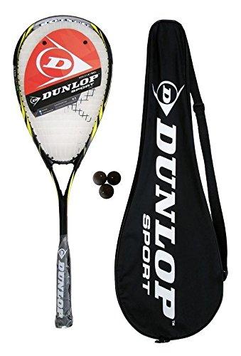 Dunlop Biotec Max Ti Squashschläger + 3 Squash Bälle