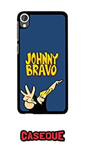 Caseque Johnny Bravo Hard Shell Back Cover For Htc Desire 820