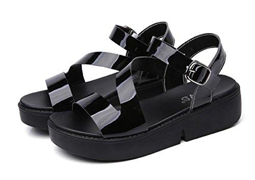 2017 nuovi scarpe selvaggio selvatico estate calzature sandali in pelle verniciata semplice pelle 1