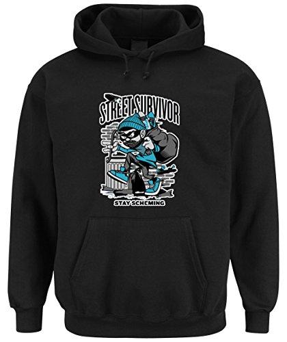 Street Survivor Hooded-Sweater Black Certified Freak-S