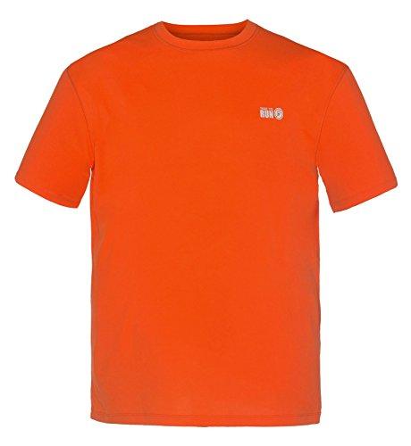 """Time To Run Men's Favourite Short Sleeve Running Gym T Shirt Top Large 42""""- 45"""" Orange"""