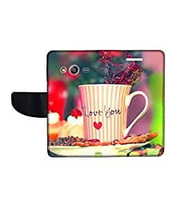 KolorEdge Printed Flip Cover For Samsung Galaxy Ace NXT Multicolor - (43KeMlogo10287SamNXT)