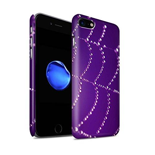 STUFF4 Matte Snap-On Hülle / Case für Apple iPhone 8 / Orange Muster / Spinnen Netz Perlen Kollektion Lila