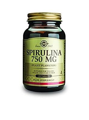 Solgar 750 mg Spirulina Tablets - Pack of 100 by Solgar