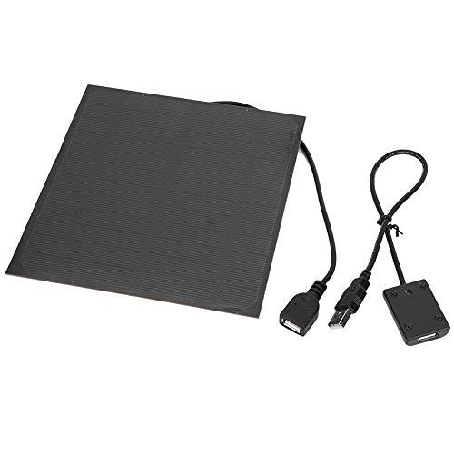 Alomejor 4,5 W Solar Ladegeräte 5 V Wasserdicht Tragbare Dual USB Solar Panel Ladegerät mit Manostat für Smartphone Tablet Kamera Powerbank und Camping Travel (Ipad Travel Lautsprecher)