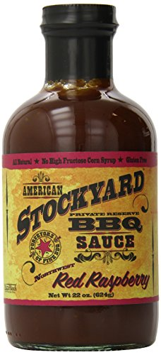 American Stockyard BBQ Sauce Red Raspberry