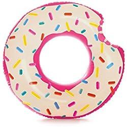 Flotador hinchable para piscina de Donut de fresa 107 x 99 cm