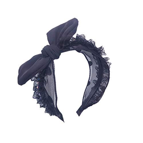 iCerber 2019 neu Damen Stirnband Strass Inlays Fashion Stirnbandhaarschmuck breiter Krempe Mesh Stoff Exquisite Mode Stirnband