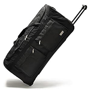 Wheeled Holdall Trolley Hand Luggage Travel Bag Suitcase Extra Large - Large & Small Cabin