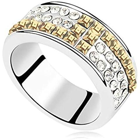 AieniD Anelli Donna Matrimonio Placcato Oro Tondo Piazza Principessa Cut Zirconia Cubica Fidanzamento Anelli per