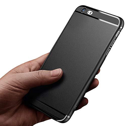 ikalula iPhone 6S Handyhülle, Silikon iPhone 6S Schutzhülle Ultra Dünn Kratzfest Stoßfest Shockproof iPhone 6 Hülle Weich Flexibel TPU Case Cover für iPhone 6S/iPhone 6, Matte Schwarz (4,7 Zoll)