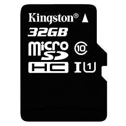 Kingston Technology Sdc10g232gb 32 Gb Uhs Class 1class10 Microsdhcuhs-i Flash Memory Card (Included Microsdhc To Sd Adapter), Black