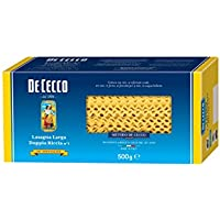 De Cecco 20x Lasagna Larga Doppia Riccia No. 1. 500g Lasaña Rizada Doble