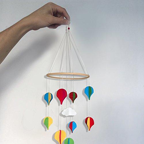 Baby Filz Mobile Babybett Wiege Schöne hängende Dekoration Kinderzimmer Baby Dusche Geschenk Junge Mädchen Bright Bunte Luftballons, Baby Zubehör, Home Decor