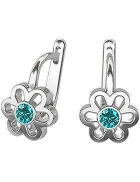 butterfly Mädchen Ohrringe Sterlingsilber türkis Swarovski Elements original Blume Schmuck-Beutel, Geschenk Idee...