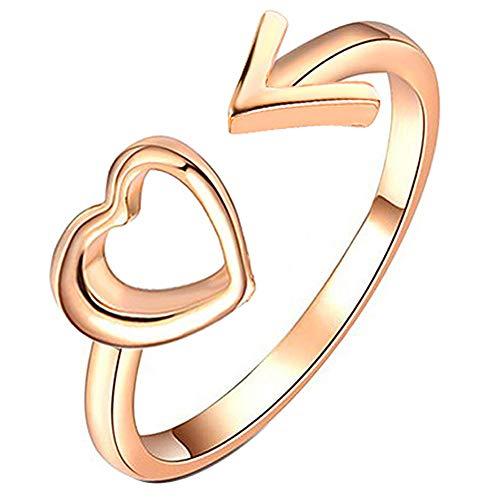 4bde1af70747 Snner Mujeres De Los Anillos De Dedo Ajustable Flechas Pendientes Dama De  La Aleación del Corazón del Estilo Anillo Abierto De La Vendimia De Boho
