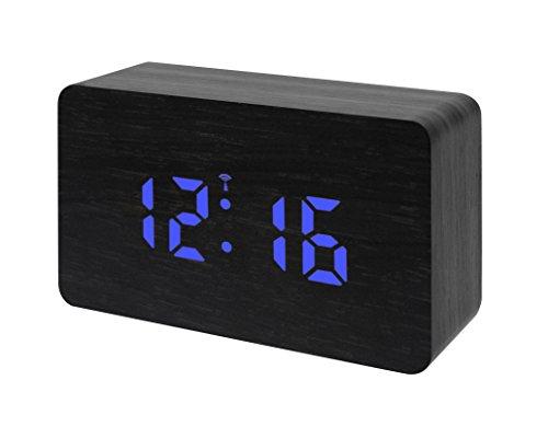 Bresser Funkwecker MyTime W mit LED Display schwarz/blau