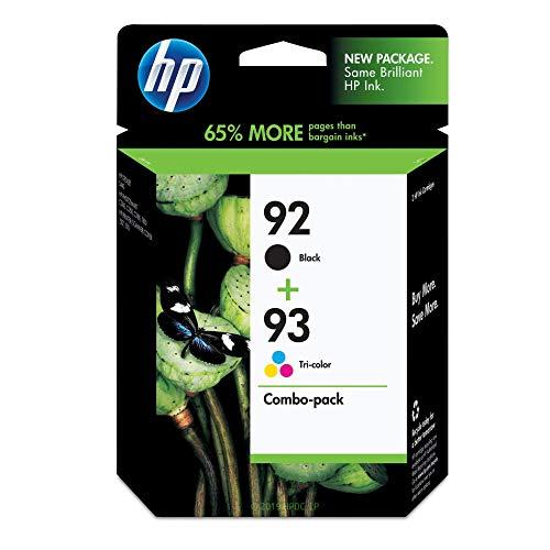 HP 92schwarz & 93Dreifarbige Original Tintenpatronen, 2Pack (c9513fn) - Hp Drucker Patrone 92
