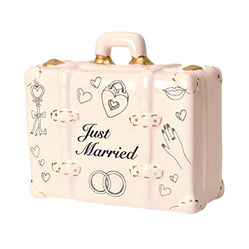 Just Married - Koffer Spardose - Flitterwochen - Koffer Sparbüchse Sparschwein