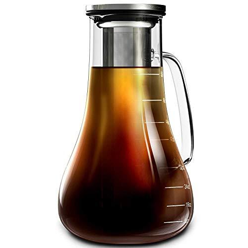 Wealth Cold Brew Coffee Maker - 52 oz - Iced Coffee Maker Brewer Kit - Funktioniert auch als große Cold Press Coffee Maker Pot oder heiße Eistee-Infuser-Karaffe - Kaffeeliebhaber Geschenk -